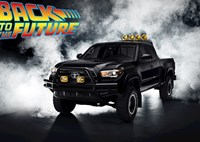 two wide toyota tacoma back to the future tribute truck 1985 bttf 11