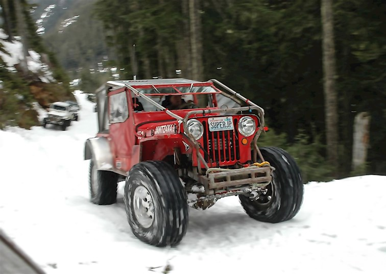 two wide super jeep nitto trail grapplers snow