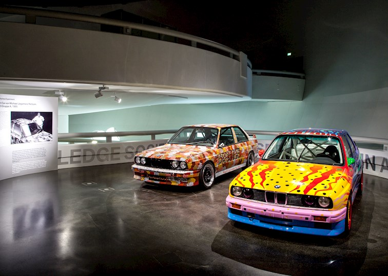 the bmw art car gallery second floor
