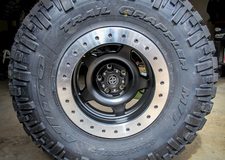 two wide 37 nitto trail grappler atx slab beadlock wheel