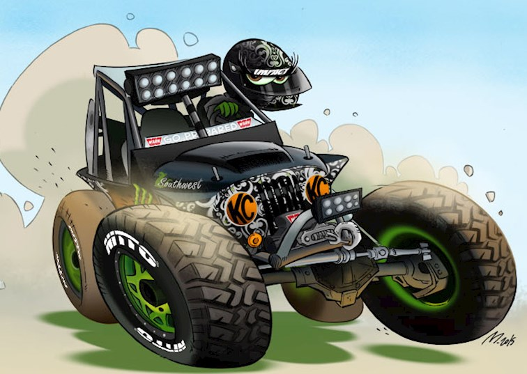 two wide bailey campbell cartoon whitedog driving line feature nitto