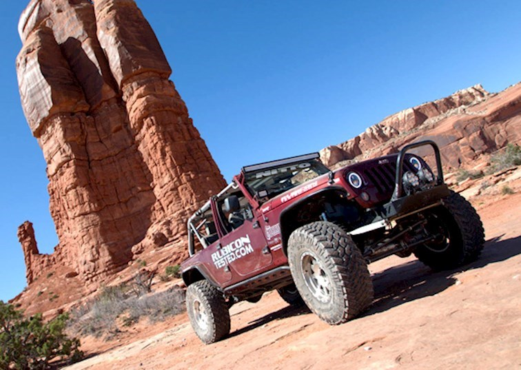 Kicking Off Moab's 2015 Easter Jeep Safari on Wipe-Out Hill