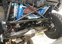 two wide jeep wrangler jk evo lever double thrown down king bypass coilover shocks