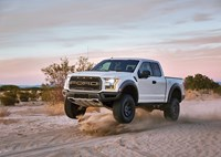 two wide 2017 ford raptor white