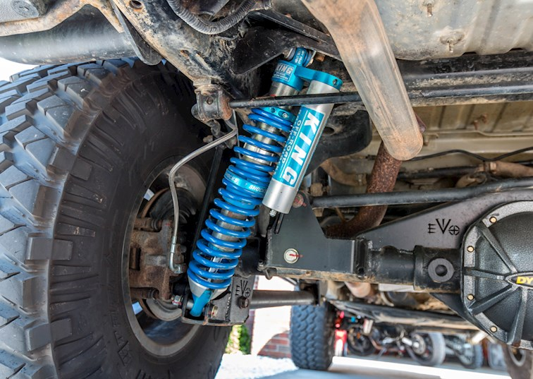 two wide king coilovers evo mfg rear bolt on shocks rock star skids