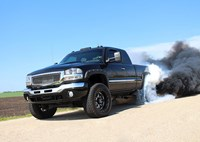 two wide 001 gmc sierra 2500 duramax burnout
