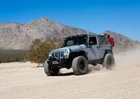 two wide 23 jeep wrangler dry lake bed