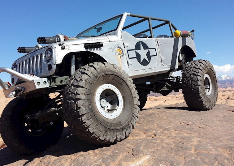 Awesome WW2-Inspired Jeep Wrangler Unlimited on eBay
