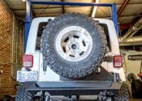 two wide 016 2015 jeep wrangler fab fours tire carrier rear bumper 11