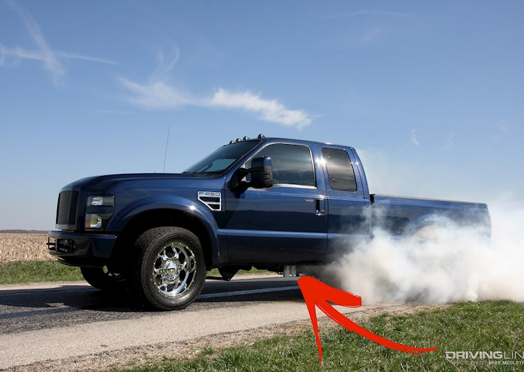 two wide 001a 2008 ford f250 power stroke burn out
