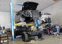 two wide 001 ford 6 4 power stroke v8 diesel engine preview