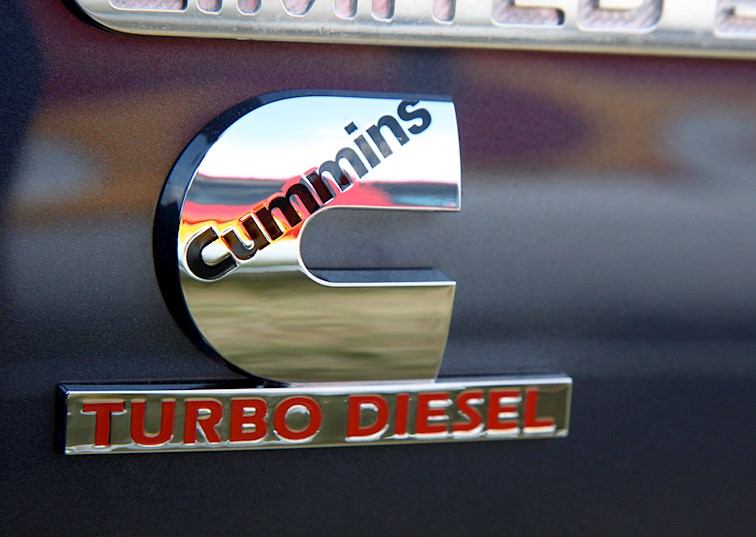 two wide 001 cummins turbo diesel badge