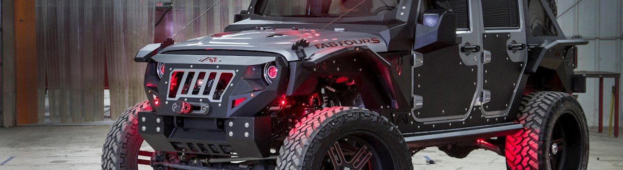 Fab Fours 2015 Jeep Wrangler Unlimited Rubicon Mall ...