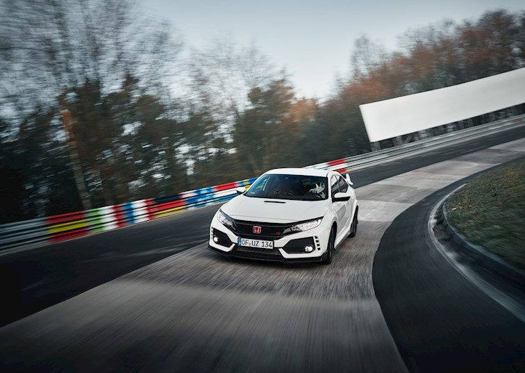 two wide 2017 civic type r record