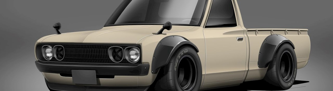 Engineering Perfection: The V8 Twin-Turbo Datsun 620 Build ...