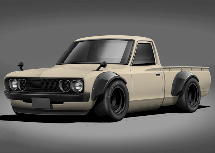 two wide datsun620 feature