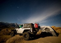 two wide jeep wrangler night alabama hills