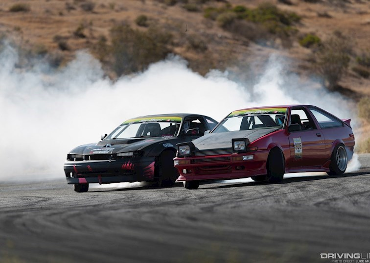 Making the Big Jump at 2017 Top Drift Round 3 | DrivingLine