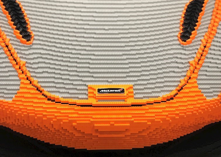 1:1 Scale: A Life-Size McLaren Built From LEGO