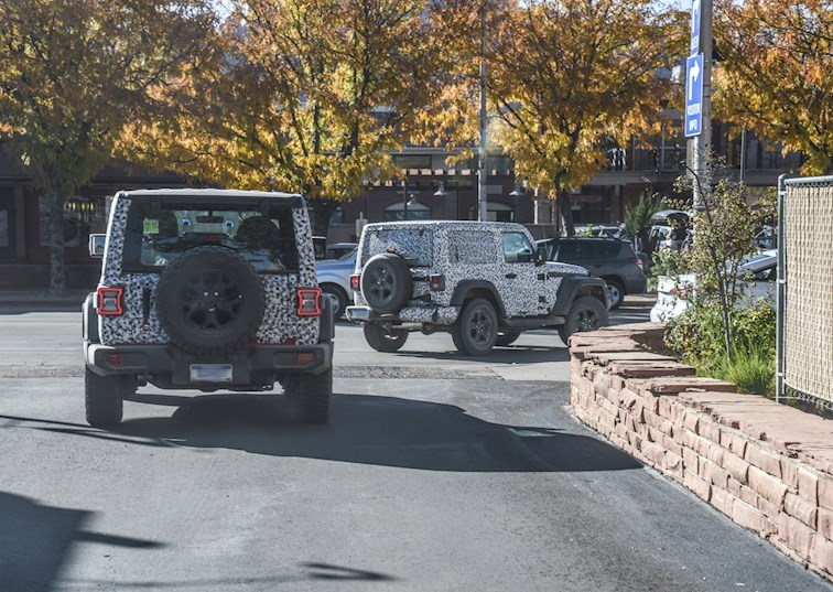 Exclusive! Spy Photos of the 2018 Jeep Wrangler JL in Moab