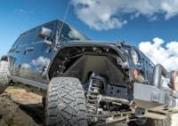two wide 001 2013 jeep wrangler unlimited jk evo mfg fender flares fender liners nitto ridge grappler