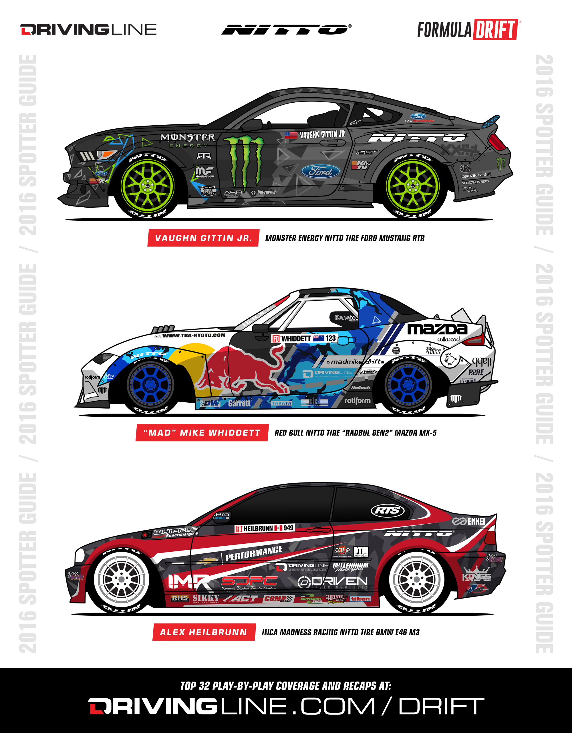 Download Your Free Nitto Tire Formula Drift Spotters Guide