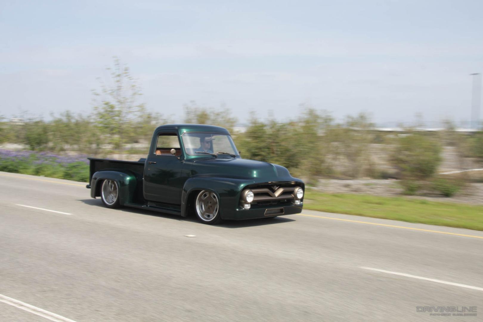 Chasing The Blues Away With A Green Machine Drivingline 1955 Ford F100 Pick Up St Louis Preview Image 1953 0017
