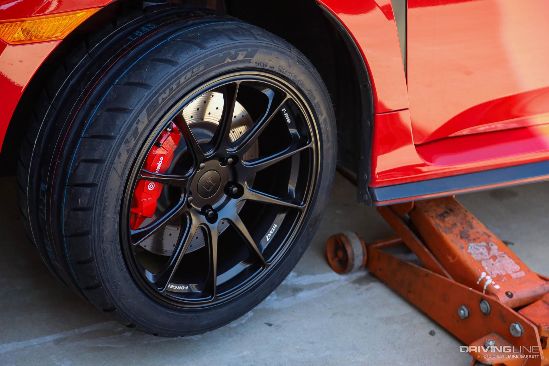 "Hyundai Veloster Tires >> Civic Type R 18"" NT05 Tire and Titan 7 Wheel Swap"