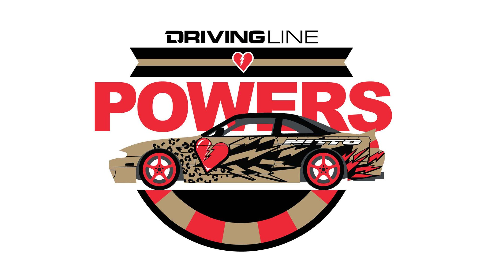 DESKTOP 2049x1152 pixel wallpaper - Matt Powers' drift 240sx Driving Line exclusive design. To download, click magnifying glass in lower-right corner, than download full-size image.