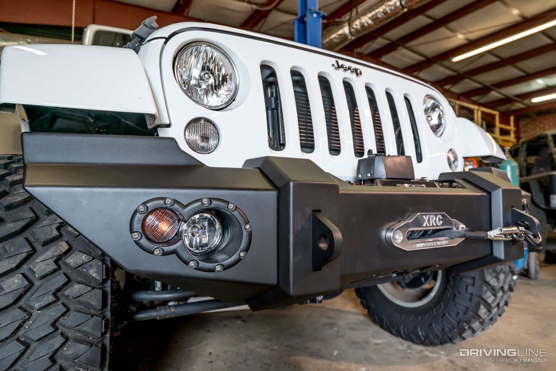 2015 Jeep Wrangler Jk Fab Fours Front Bumper Trail Grappler 5. Preview Image