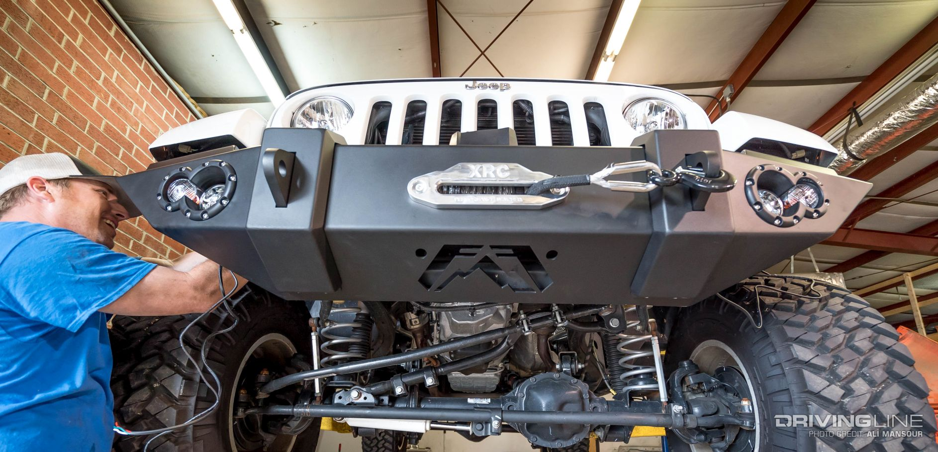 Fab Fours Jeep Wrangler Jk Lifestyle Front Winch Bumper