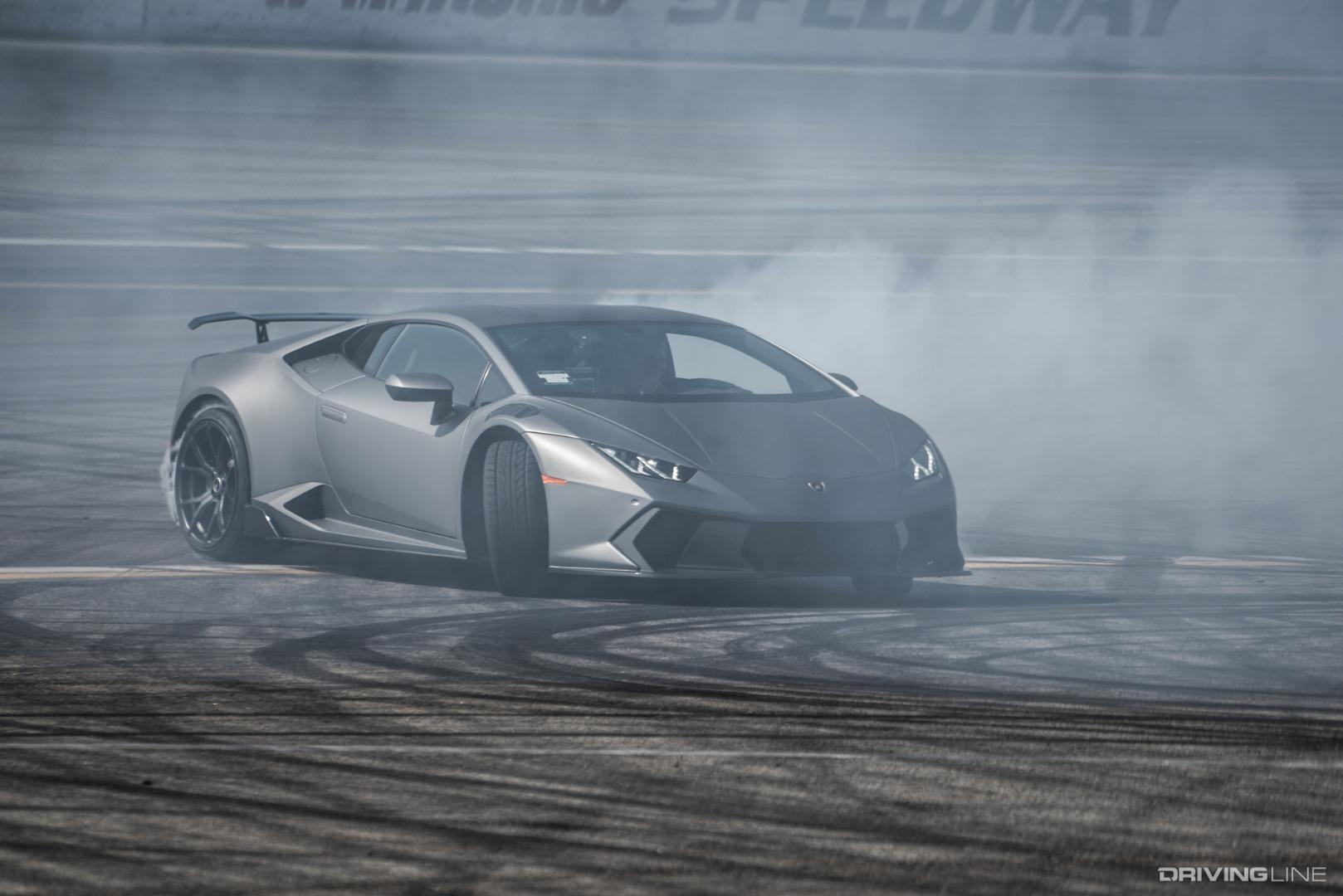 Making a Lamborghini Drift: Testing 1-2-WEEE! | DrivingLine