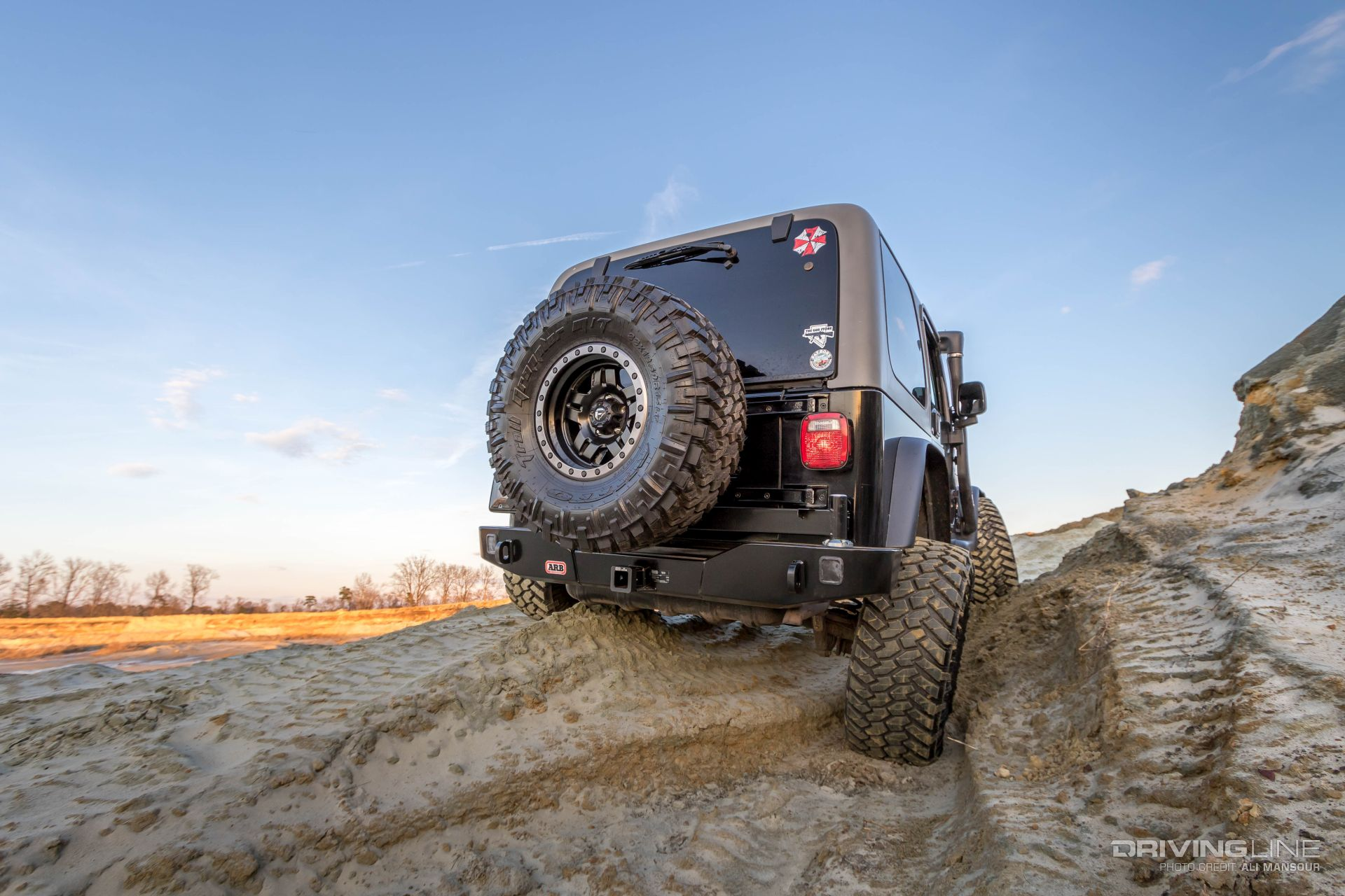Jeep Wrangler Tj Build >> ARB Jeep Wrangler Rear Bumper and Tire Carrier Review | DrivingLine